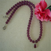 Amethyst European Glass Beaded Necklace