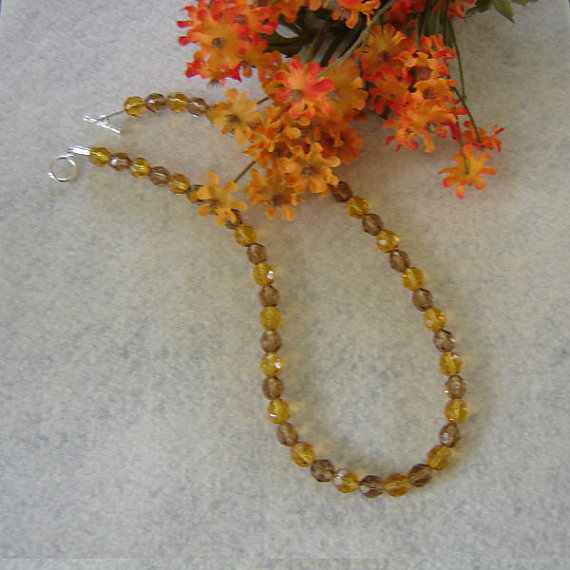Topaz Glass Beaded Necklace